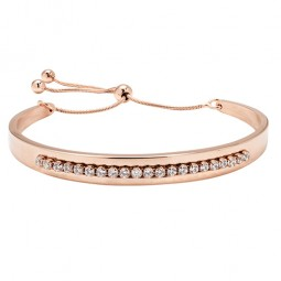BANGLE WITH CUBIC ZIRCONIA AND SLIDING CLASP